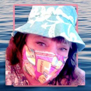 Vtg Express Hawaiian bucket hat M/L!